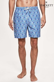 Hackett Blue Geo Fish Swim Short