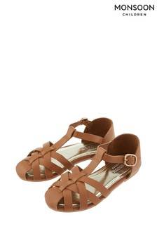 Monsoon Tan Callie Caged Sandal