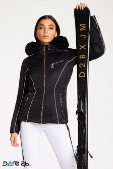 Dare 2b Julien Macdonald Black Waterproof Affluence Jacket