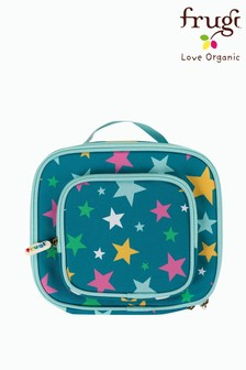 Frugi Blue Recycled Star Print Lunch Bag With Pocket