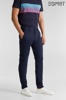 Esprit Blue Regular Woven Chino Pants