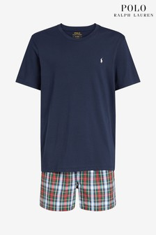 Polo Ralph Lauren Navy Check PJ Set