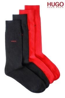 HUGO Red/Black Sock Two Pack