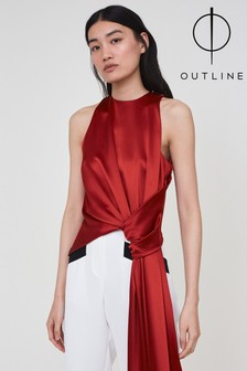 Outline Red Venice Top