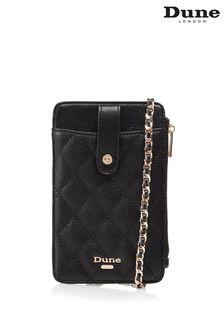Dune London Black Kimmyy Phone Lanyard Purse