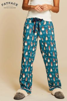 FatFace Green Winter Penguins Classic Lounge Pant