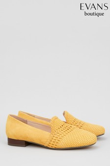 Evans Yellow Extra Wide Fit Weave Loafer