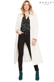 Damsel In A Dress White Leora Belted Coat