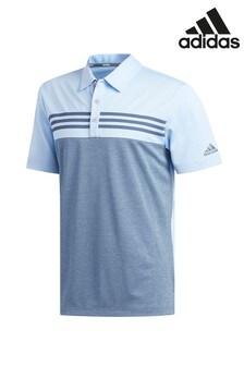 adidas Golf Heather Stripe Block Polo