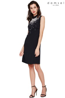 Damsel In A Dress Black Saskia Beaded Dress