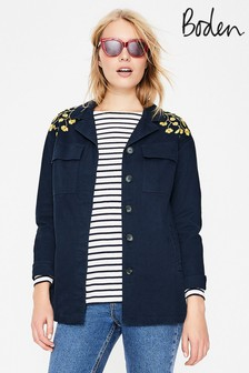 Boden Blue Ruby Embroidered Jacket