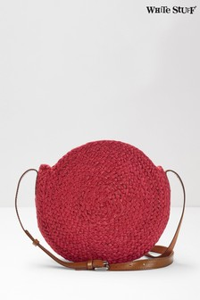 White Stuff Red Amal Mini Jute Cross Body Bag