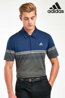 adidas Golf Navy/Khaki Ultimate Gradient Stripe Polo