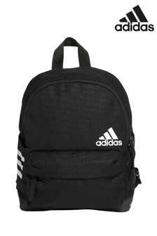 adidas Black 3 Stripe Small Backpack