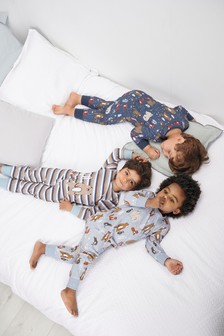 3 Pack Woodland Animal Snuggle Pyjamas (9mths-8yrs)