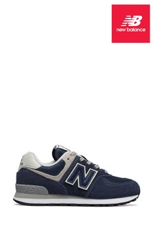 New Balance Youth 574 Navy Trainers