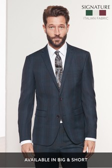 Regular Fit Marzotto Signature Check Suit