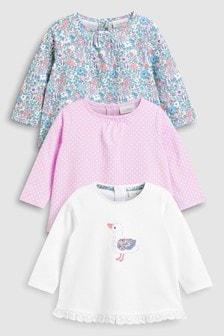 Набор из трех футболок (в уточки и в цветочек) (0 мес. - 2 лет)