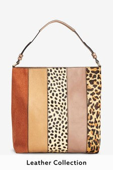a4e72cd84b Leather Colourblock Hobo Bag