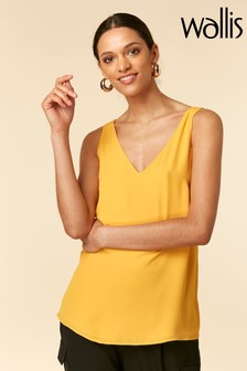 Wallis Yellow V-Neck Cami