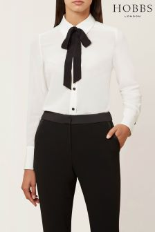 Hobbs Cream Lana Blouse