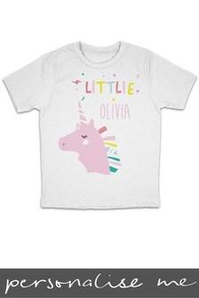 Personalised Little Sister Unicorn Printed T-Shirt