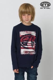 Animal Navy Board Long Sleeve T-Shirt