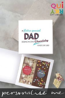 Personalised Fathers Day 2 Bar Chocolate Card By Quirky Gift Library