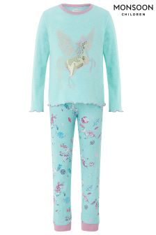 Monsoon Peggy Unicorn Jersey Pyjama