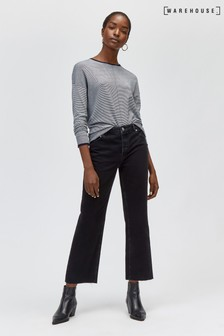 Warehouse Black Straight Cut Jean