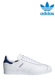 adidas Originals White/Navy Gazelle Trainers
