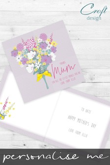Personalised Floral Mother's Day Card by Croft Designs