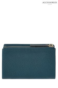 Accessorize Teal Soft Fold Over Coin Purse