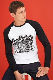 Gas Monkey Raglan Long Sleeve T-Shirt