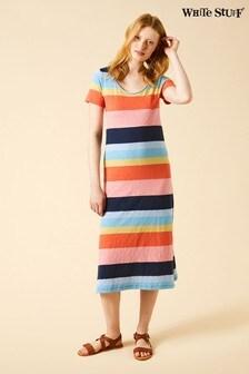 White Stuff Jennie Fairtrade Orange Dress