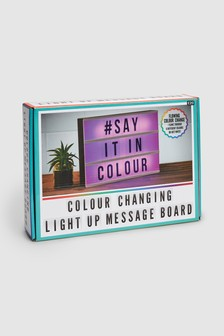 Colour Changing A4 Personalisable Light Box