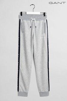GANT Grey Lock Up Stripe Pants