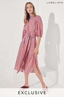 Mix/Teija Stripe Shirt Dress
