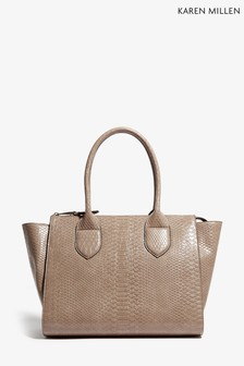 Karen Millen Natural PU Snake Bag