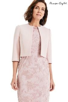 Phase Eight Pink Venita Shoulder Detail Cropped Jacket