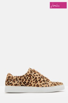 Joules Leopard Solena Luxe Hair On Hide Trainer