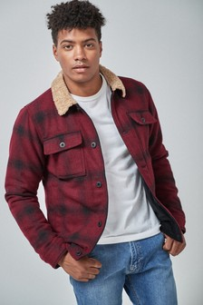 Wool Blend Trucker Jacket