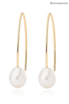 Beaverbrooks 9ct Gold Freshwater Pearl Drop Earrings