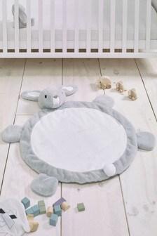 Faux Fur Bunny Playmat