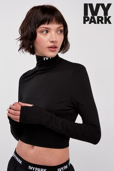 Ivy Park Black Funnel Neck Top