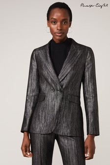Phase Eight Black Geri Glitter Jacket
