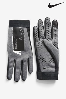 Nike Academy Grey HyperWarm Football Gloves