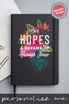 Personalised Hopes And Dreams A5 Notebook by Oakdene Designs
