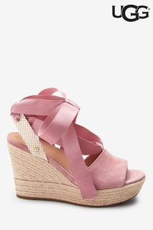 UGG® Pink Tie-Up Maia II Wedges