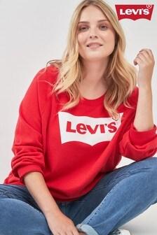 Levi's® Plus Red Graphic Logo Crew Sweatshirt